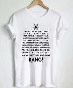 bang quotes T Shirt Size XS,S,M,L,XL,2XL,3XL