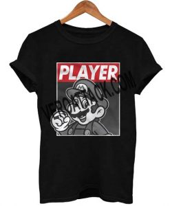 mario player T Shirt Size XS,S,M,L,XL,2XL,3XL