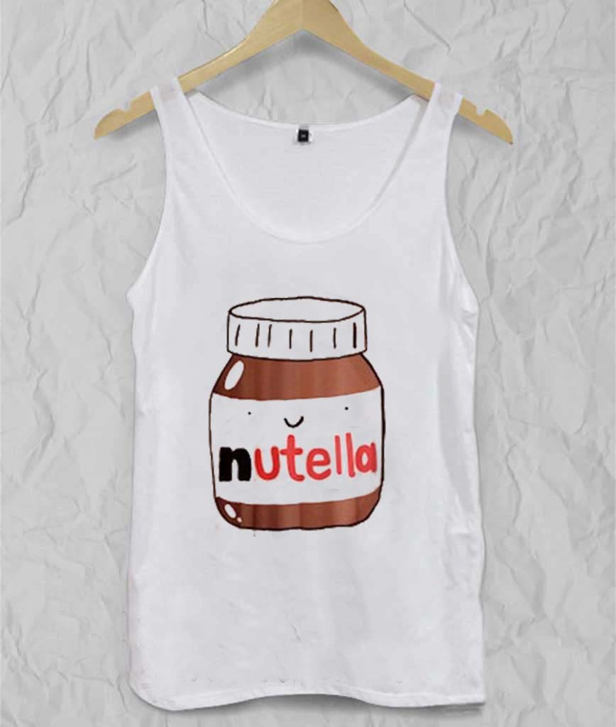 nutella Adult tank top men and women