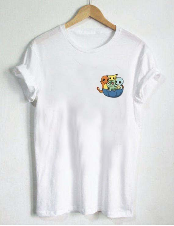 Pocket 2xl 3xl l Little T Shirt Cute Xs s xl Pokemon m Size hotsCBQdxr