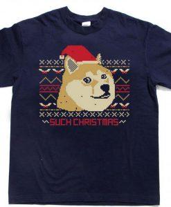 doge such christmas T Shirt Size XS,S,M,L,XL,2XL,3XL