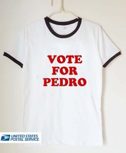 vote for pedro unisex ringer tshirt