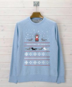 christmas is coming light blue Unisex Sweatshirts