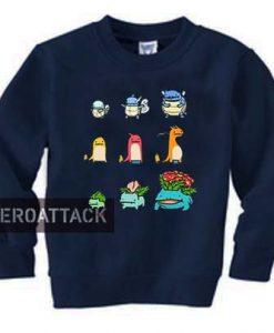 Character Evolution Pokemon Unisex Sweatshirts