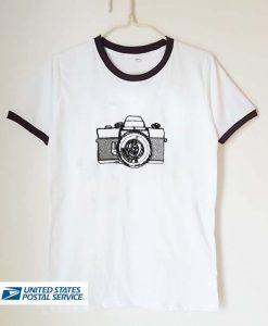 camera art unisex ringer tshirt