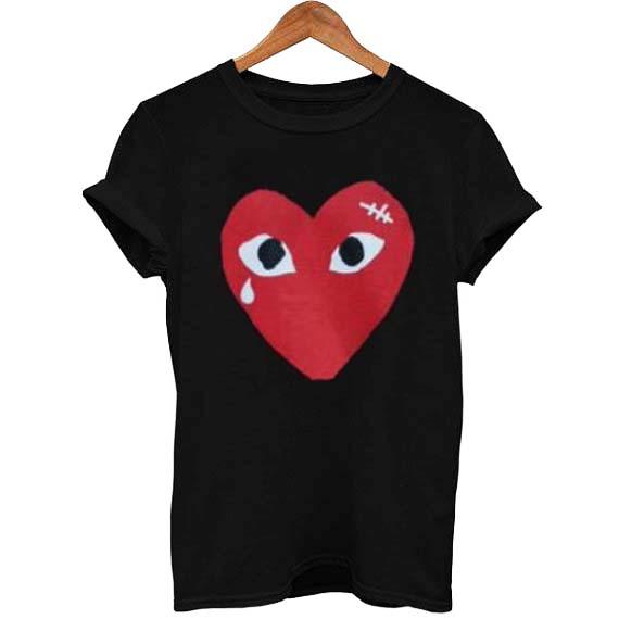 1206819f93af6 coeur comme des garcons T Shirt Size XS,S,M,L,XL,2XL,3XL