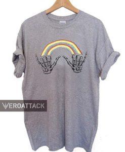 double rainbow skeleton T Shirt Size XS,S,M,L,XL,2XL,3XL