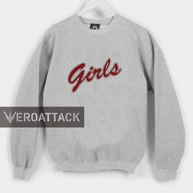 Girls red letters unisex sweatshirts for Letters for sweatshirts
