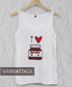 i love nutella funny Adult tank top men and women