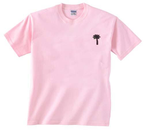 palm tree light pink t shirt size s m l xl 2xl 3xl