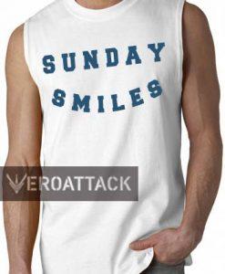 sunday smiles sleeveless shirt men size S-2XL