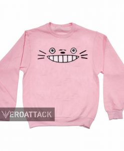 totoro face funny light pink color Unisex Sweatshirts