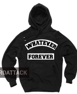 whatever forever black color Hoodies