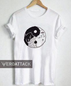 yin yang face art T Shirt Size XS,S,M,L,XL,2XL,3XL