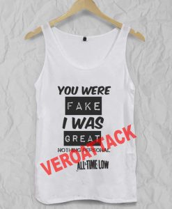 all time low quote Adult tank top men and women