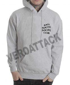 anti social social club grey color Hoodies
