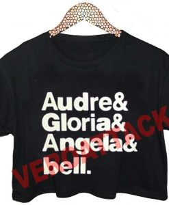 audre gloria angela and bell crop shirt graphic print tee for women