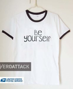 be yourself unisex ringer tshirt.available size S,M,L,XL,2XL,3XL