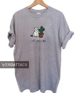 cat and me cactus T Shirt Size XS,S,M,L,XL,2XL,3XL
