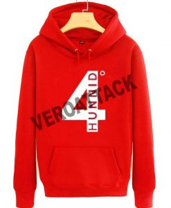 4 hunnid red color Hoodies