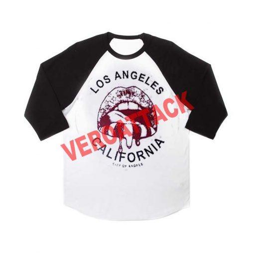 los angeles california city of angels raglan unisex tee shirt for adult men and women