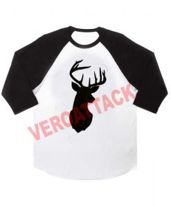deer christmas raglan unisex tee shirt for adult men and women