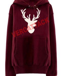 deer christmas maroon color Hoodies