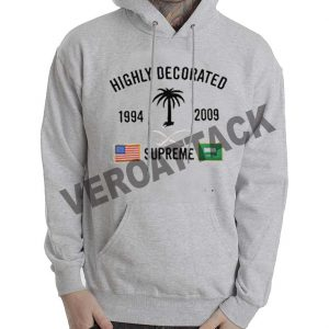highly decorated supreme grey color Hoodie