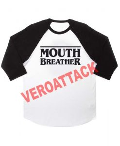 mouth breather raglan unisex tee shirt for adult men and women