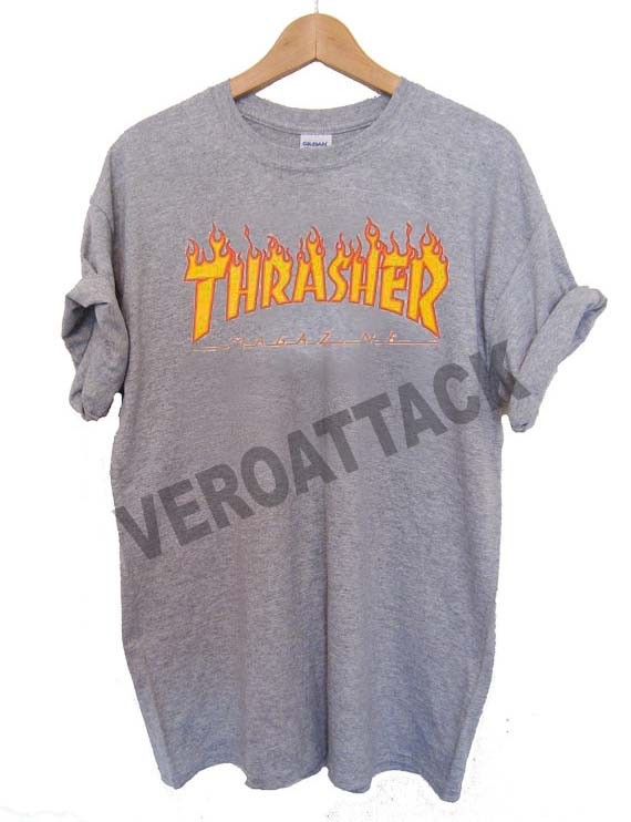 595a982c5763 thrasher magazine logo fire T Shirt Size XS