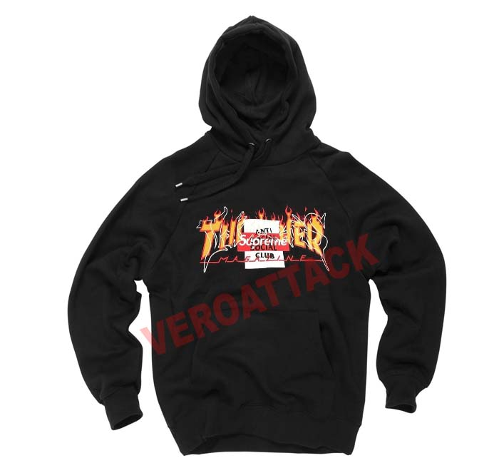 db48f1cdb thrasher supreme antisocial club black color Hoodies