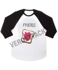 BFF friends raglan unisex tee shirt for adult men and women