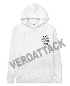 anti social social club white color Hoodies