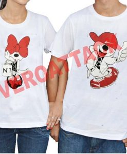 mickey and minnie mouse Couple Tshirt Size S,M,L,XL,2XL,3XL