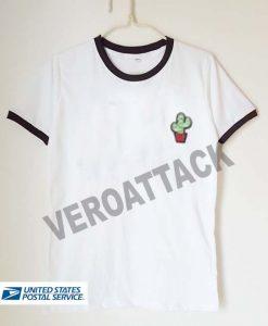 cute cactus unisex ringer tshirt available size S,M,L,XL,2XL,3XL