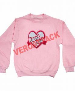 heart club light pink Unisex Sweatshirts