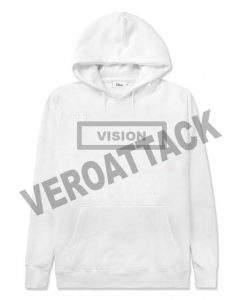vision white color hoodie