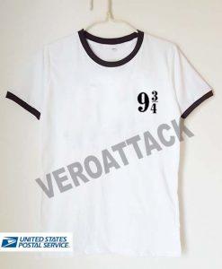 9 34 logo unisex ringer tshirt