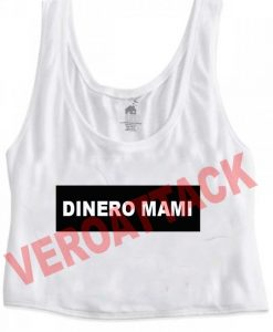 dinero mami crop top graphic print tee for women