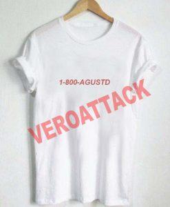 1 800 agustd T Shirt Size XS,S,M,L,XL,2XL,3XL