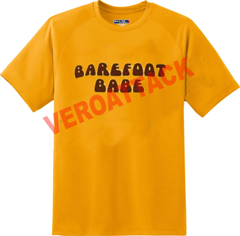 4b6b9944e barefoot babe gold yellow color T Shirt Size S,M,L,XL,2XL,3XL