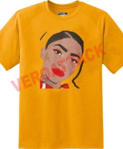 zendaya art gold yellow color T Shirt Size S,M,L,XL,2XL,3XL