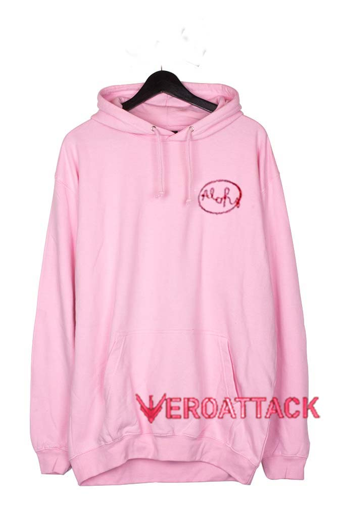 Aloha Light Pink Color Hoodie