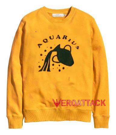 Aquarius gold yellow Unisex Sweatshirts