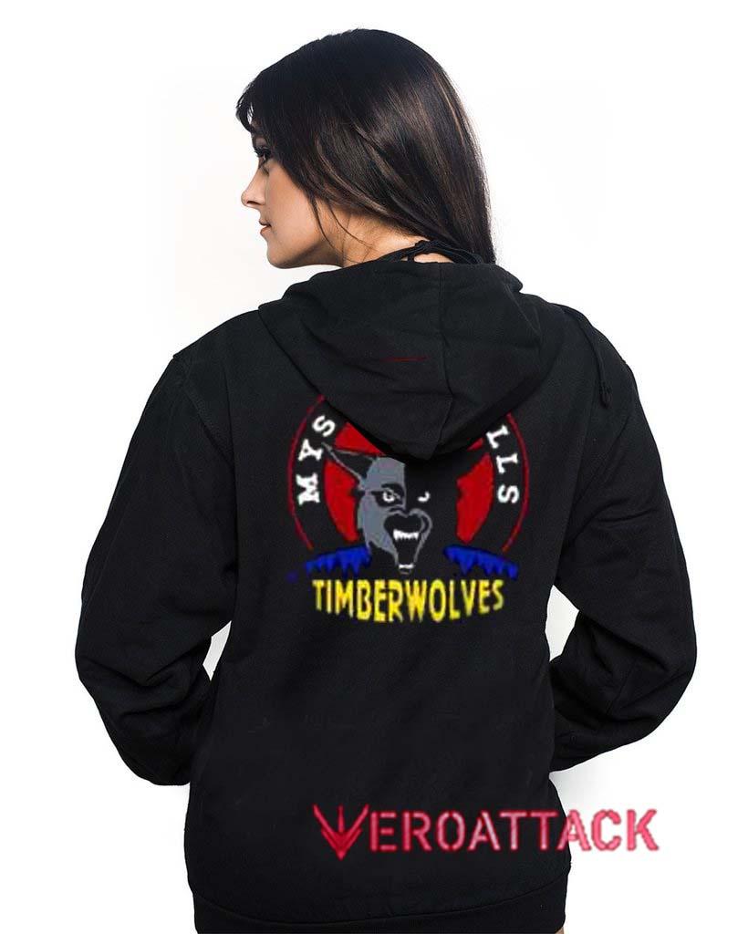 Mystic Falls Timberwolves Black Color Hoodie