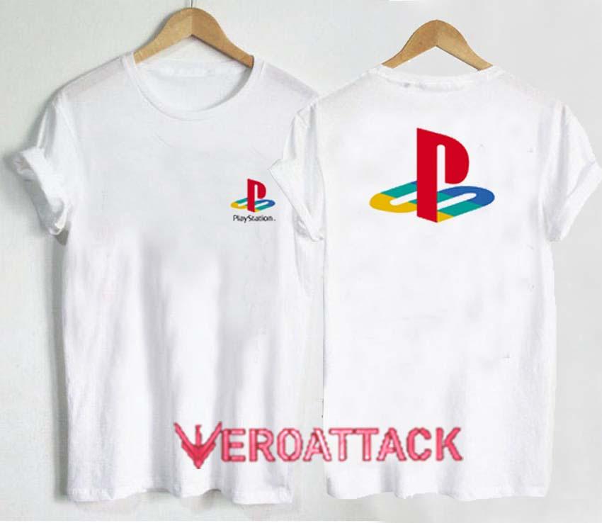 Funny Play Station Button Logo Men/'s Black T-Shirt Size S M L XL 2XL 3XL