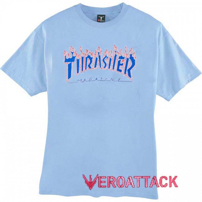 a9b8dca5cfd8 Thrasher Magazine Blue Logo T Shirt Size XS,S,M,L,XL,2XL,3XL