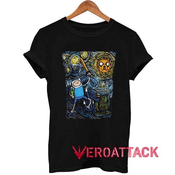 20537beb Adventure Time Art Starry Night T Shirt Size XS,S,M,L,XL,2XL,3XL
