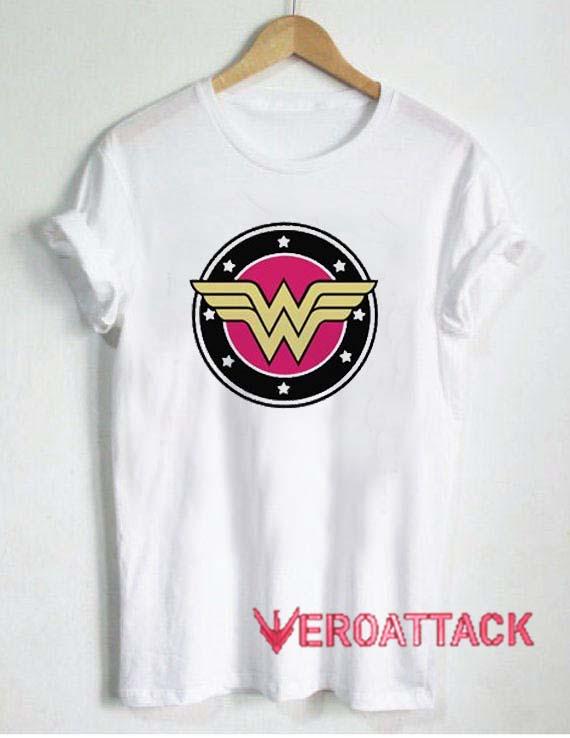 Wonder Woman Logo T Shirt Size XS,S,M,L,XL,2XL,3XL
