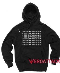1 800 DolanTwins Black Color Hoodie
